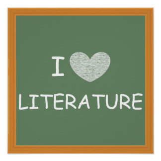 I Love Literature Poster