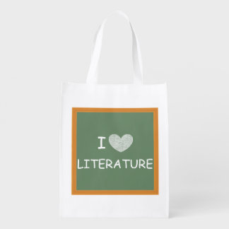 I Love Literature Reusable Grocery Bags