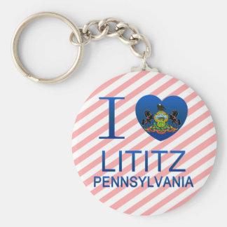 I Love Lititz, PA Basic Round Button Keychain
