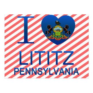 I Love Lititz, PA Postcard