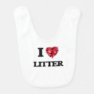 I Love Litter Baby Bibs