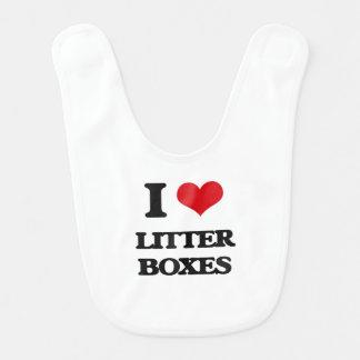 I love Litter Boxes Bibs