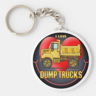I Love Little Dump Trucks Key Chain