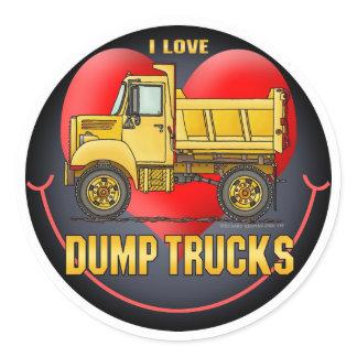 I Love Little Dump Trucks Kids Sticker