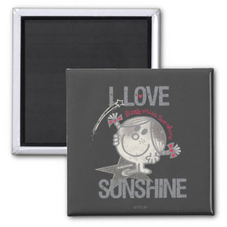 I Love Little Miss Sunshine 2 Inch Square Magnet