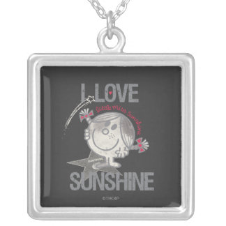 I Love Little Miss Sunshine Silver Plated Necklace