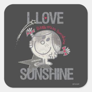 I Love Little Miss Sunshine Square Sticker