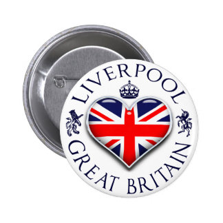 I Love Liverpool Pinback Button