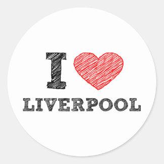 I love Liverpool Classic Round Sticker