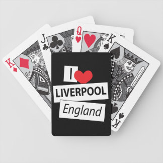 I Love Liverpool England Bicycle Playing Cards
