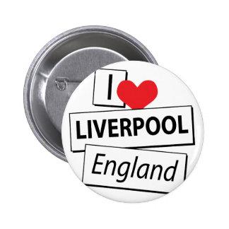 I Love Liverpool England Pins