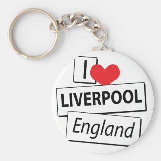 I Love Liverpool England Keychain