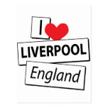 I Love Liverpool England Post Cards