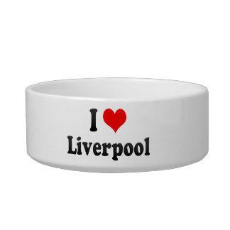 I Love Liverpool, United Kingdom Cat Water Bowls