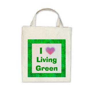I Love Living Green tote bag