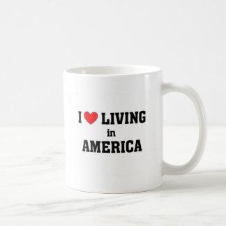 I love living in America Classic White Coffee Mug