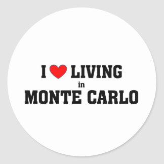 I love living in Monte carlo Classic Round Sticker