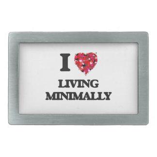I Love Living Minimally Rectangular Belt Buckles