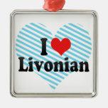 I Love Livonian Christmas Tree Ornament