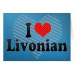 I Love Livonian Greeting Card
