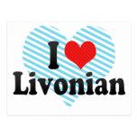 I Love Livonian Post Card