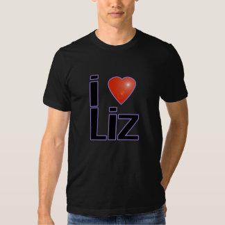 i love liz on black T-Shirt
