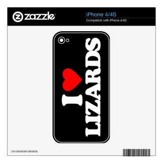 I LOVE LIZARDS SKIN FOR iPhone 4