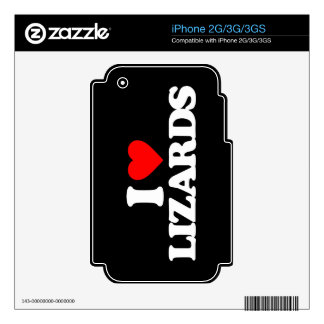 I LOVE LIZARDS iPhone 3GS SKINS