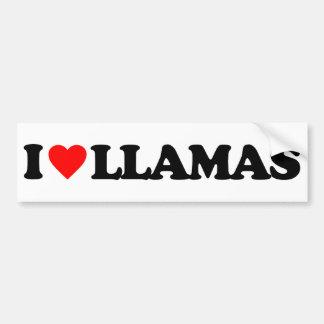 I LOVE LLAMAS BUMPER STICKERS