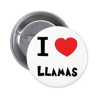 I love Llamas Button