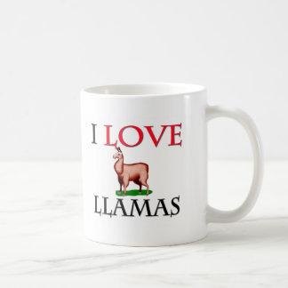 I Love Llamas Classic White Coffee Mug