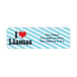 I Love Llamas Custom Return Address Labels
