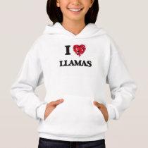 I Love Llamas Hoodie