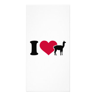 I love llamas photo card