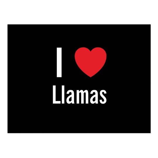 I love Llamas Postcard