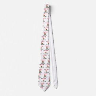 I Love Llamas Tie