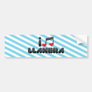 I Love Llanera Bumper Sticker