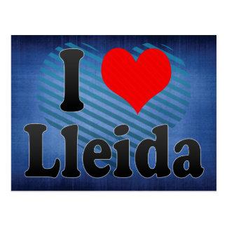 I Love Lleida, Spain Postcard
