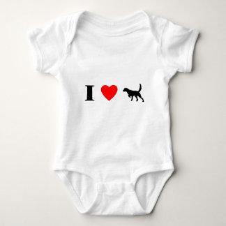 I Love Llewellin Setters Baby Creeper