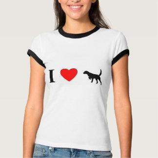 I Love Llewellin Setters Ladies Ringer T-Shirt