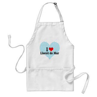 I Love Lloret de Mar, Spain Adult Apron