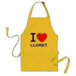 I Love Lloret - Yellow Apron