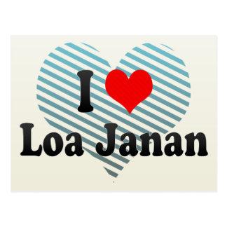 I Love Loa Janan, Indonesia Postcard