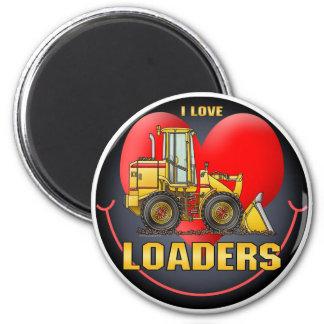 I Love Loaders Round Magnet