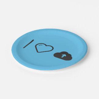 I Love Loads 7 Inch Paper Plate