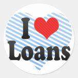 I Love Loans Sticker