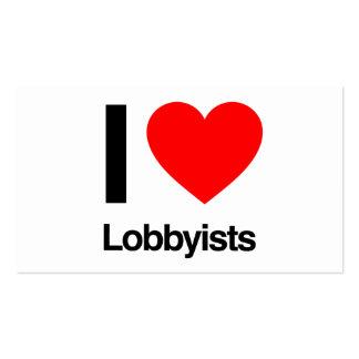 i love lobbyists business card templates