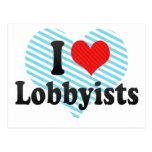 I Love Lobbyists Post Card