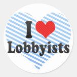 I Love Lobbyists Stickers