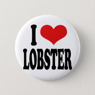 I Love Lobster Button